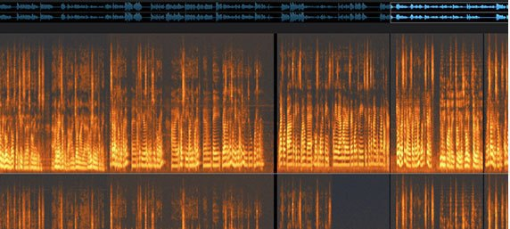 audio post-production - audio spectogram