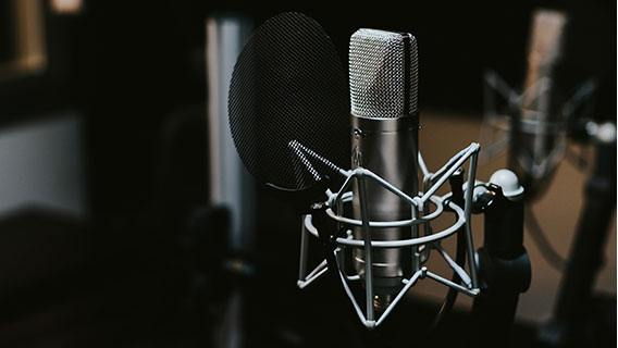 video translation services - condenser microphone