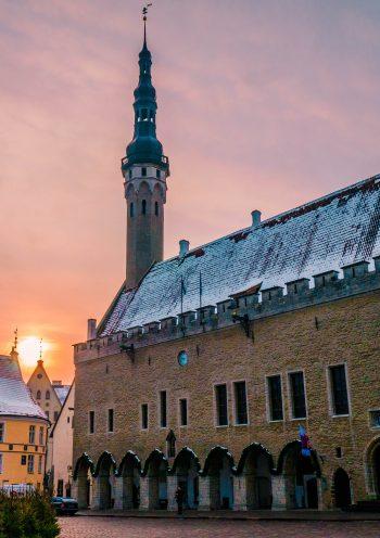 קריינות מקצועית באסטונית - מרכז העיר טלין באסטוניה