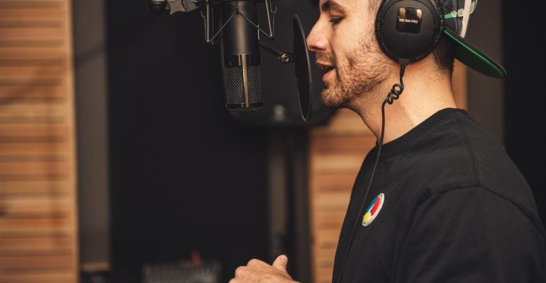 Finding the Best Narrator For Your Next Commercial - voice actor recording