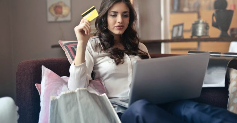 Things to Do When Seeking a Professional Voice Over - Young woman shopping online