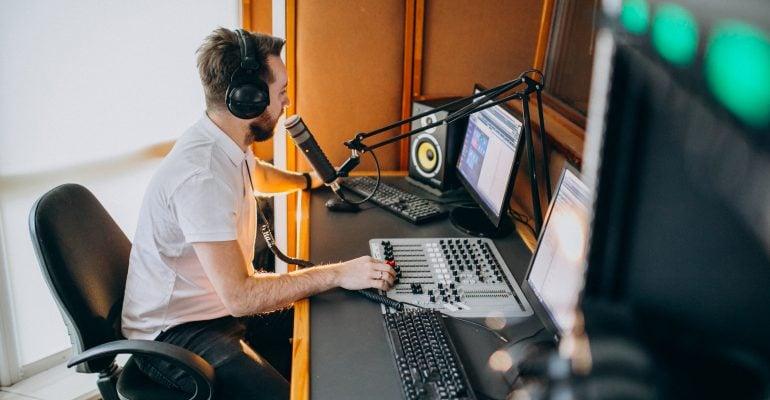 Dubbing-A Comprehensive Guide - Male voice artist recording