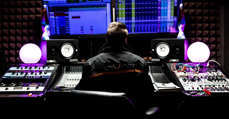 Dubbing-A Comprehensive Guide - Sound engineer at his workstation