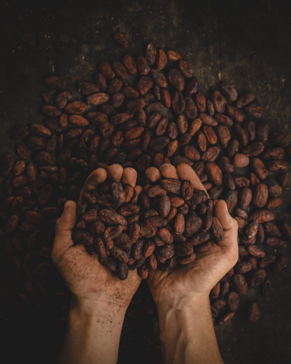 Colombian spanish voice actors - Person holding Colombian coffee beans