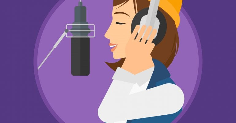 Explainer Videos Why Hire a Pro Voice Actor - Animated image of professional voice actor