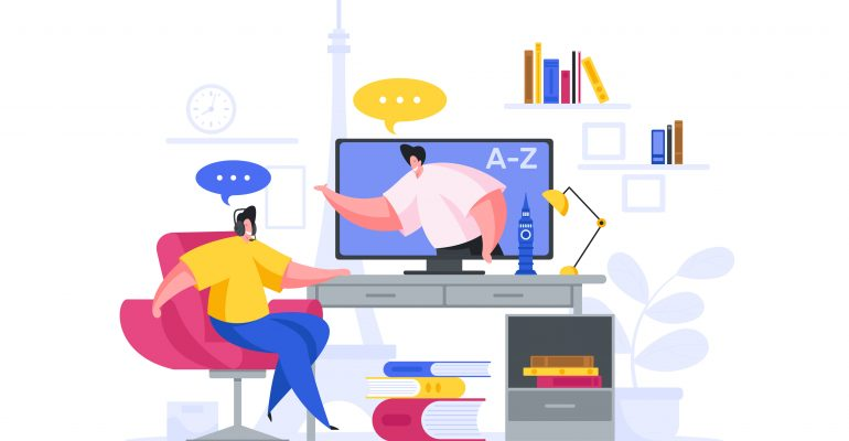 Explainer Videos Why Hire a Pro Voice Actor - Animated image of young professionals videoconferencing