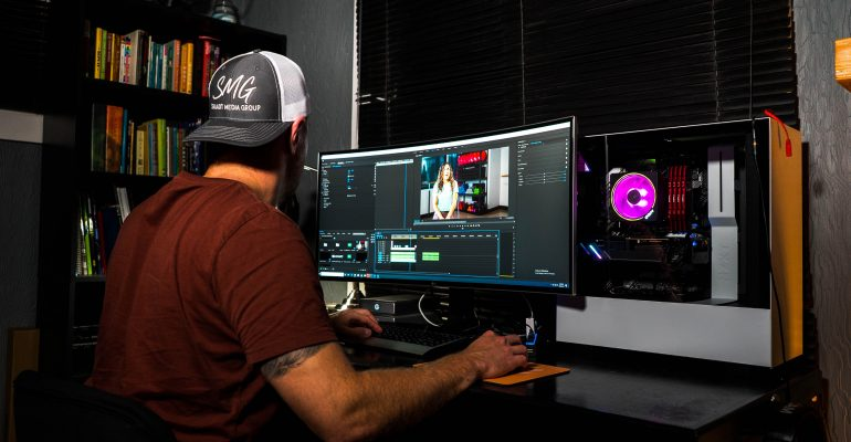 Finding the Right Music for Your Marketing Video - Video Editor at work