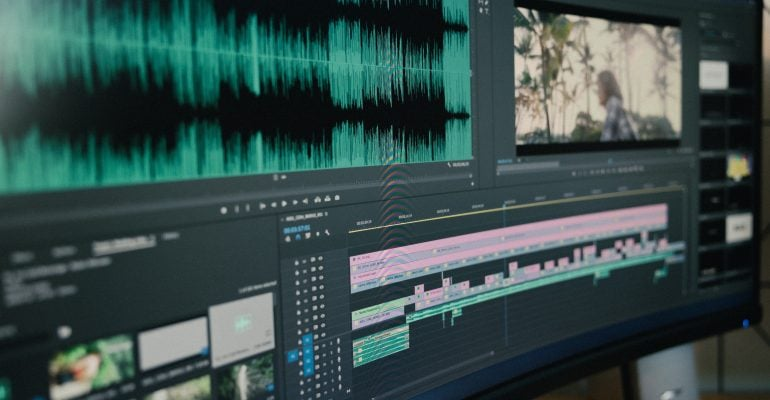Real Estate Voice Overs-All You Need to Know - video editing software on big screen