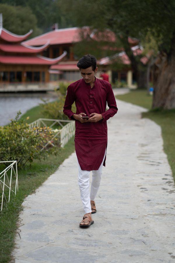 Urdu voice actors - man walks in Shangrila Resort Pakistan